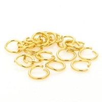 Argola Latão Ouro Flash 04 mm 10 g aprox. 150  unidades