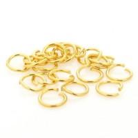 Argola Latão Ouro Flash 08 mm 500 Gramas