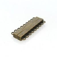 Fecho Imã Ouro Velho 52x22 mm 9 saídas 1  unidades