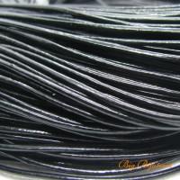 Fio de couro natural preto 1.5 mm 1 metro