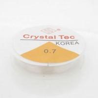 Fio de silicone 0.7 mm transparente 10  metros