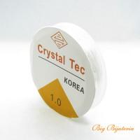 Fio de silicone transparente 1 mm 10  metros