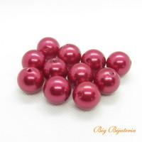 Pérola de ABS vermelho 12 mm 25 gramas