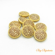 Afro resina bege 25x07 mm 10 gramas aprox. 3 unidades